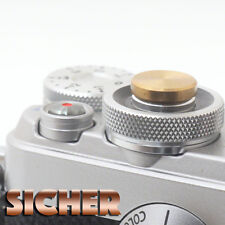 SICHER Soft Release Shutter Button for Cameras. Quality Brass. GOLD Flat.