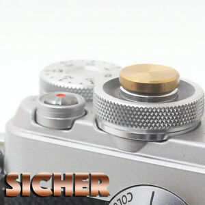 SICHER Soft Release Shutter Button for Cameras. Quality Brass. GOLD Flat.