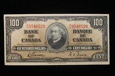 1937 Canada. ($100) One Hundred Dollars. Series B/J. Gordon-Towers.