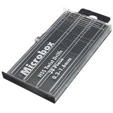 20pcs 0.3-1.6mm Tiny Mini Micro HSS Twist Drill Bit Set Drilling Craft Wood Tool