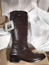 Frye Womens Dark Grey Leather Molly Button Tall Boot Shoe 6.5M New