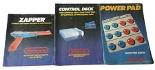 NES Lot of 3 Control Deck Orange Zapper Power Pad Nintendo Manual ONLY EXCELLENT