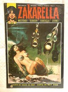 ZAKARELLA #7 magazine '70s Portuguese HORROR COMIC BOOK Portugal *U.S. SELLER*