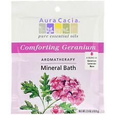 Aura Cacia  Aromatherapy Mineral Bath  Comforting Geranium  2 5 oz  70 9 g