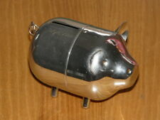 Vintage 1966 Stainless Steel Coin Still - Piggy - Bank - Approx. size: 4''½ long