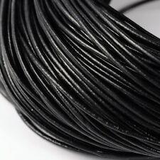Bobine 5 mètres Cordon cuir noir Rond 2,5mm