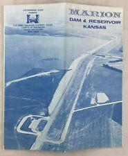 Vintage Army Engineer Map Marion Reservoir Lake Project Near Flint Hills Kansas