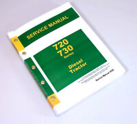SERVICE MANUAL FOR JOHN DEERE 720 730 DIESEL TRACTOR TECHNICAL REPAIR SHOP BOOK