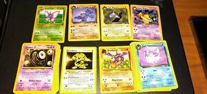 Pokemon Vintage 100 Card Bulk Lot - Original WOTC Only! Shadowless holo bonus!