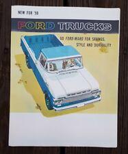 1959 Ford Truck Sales Brochure F Series Pickup Tilt Cab School Bus Ranchero