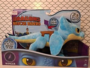 Dreamworks Dragons Rescue Riders 14' Winger Plush Wing Flap Action - NEW(P1)
