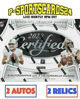 2020 PANINI CERTIFIED FOOTBALL CARDS NFL LIVE HOBBY BOX LIVE BREAK #3800 |1 TEAM