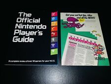 The Official Nintendo Player's Guide 1987 W/Stickers & RARE Fun Club Insert NES