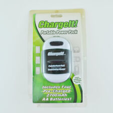 Charge It Portable Charger AA/AAA with 4 Rechargeable Batteries Plus USB Charger