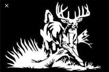 Whitetail Deer Hunting Car Truck Chevy Ford Dodge Window White Vinyl Decal
