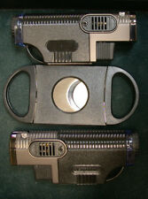 Brand New (2) Triple Flame Jet Torch Lighters w/ (1) Double Guillotine Cutter