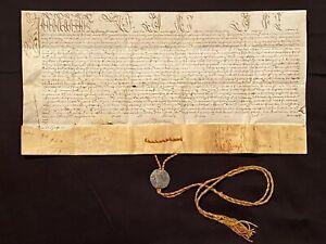 RARE Intact Vellum Papal Bull Manuscript w/ Seal/Bulla, Pope INNOCENT XI, 1683