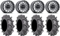"""Raceline Trophy 14"""" Grey Wheels 30"""" BKT AT 171 Tires Polaris Ranger XP 9/1K"""
