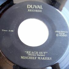 MISCHIEF MAKERS soul 45 REACH OUT 4 Tops cover OUTSIDE LOOKING IN NearMint e0155