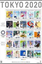 Tokyo 2020 Olympic&Paralympics memorial Stamp Sheet1 Japan limited