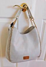 Nwt Bebe Collette Triple Entry Tote Hobo Chain Handbag Very Light Grey