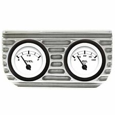 Finned Dual Bezel Mount w/ Fuel and Oil Gauges VPAGB2FO street