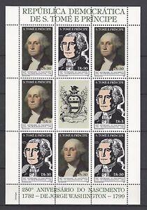 Sao Tome & Principe 1982 George Washington,250th Anniv. of Birth MNH $20
