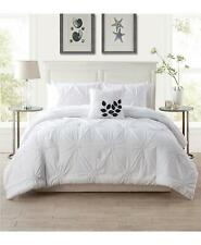 Vcny Home London Floral Pintuck 4 Piece King Comforter Set White $176