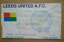 Tickets:1998 FA Carling Premiership- LEEDS UNITED v TOTTENHAM HOTSPUR, 4 March.
