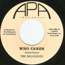 Del Counts-Who Cares M- Early '70s Funky Soul instrumental groover RARE!