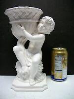 Classic Greek Roman Inarco Cherub Pedestal PLANTER VASE White Japan Foil Sticker