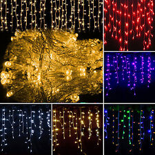 Christmas LED Icicle Hanging Wall Curtain Fairy String Lights Xmas Wedding Party