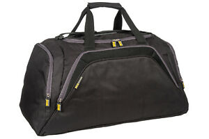 Mens Large Sports & Gym Holdall Travel Bag By MIG - Black with Grey Trim