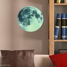 30cm Large Full Moon Glow in Dark Wall Sticker DIY Home Decor Vinyl Art Decal