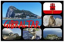GIBRALTAR - SOUVENIR NOVELTY FRIDGE MAGNET - BRAND NEW - GIFT / XMAS