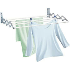 80cm Wall Mounted Expandable Cloth Drying Towel Rack Retractable Laundry Hanger
