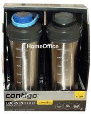 Shake & Go Shaker  Drinks Bottles Insulated - Contigo 2 Pack