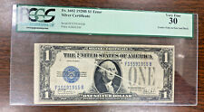 Scarce 1928 B ~$1 Silver Certificate With Gutterfold Error Pcgs Very Fine 30