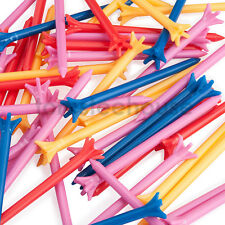 200 x Zero Friction Plastic Golf Tees - 83mm MIXED COLOUR TEES