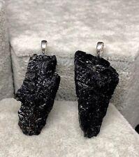 Gran Colgante Turmalina Negra 100% Natural. Plata 1ª Ley 925.
