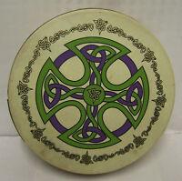 "IRELAND CELTIC DESIGN Irish 18"" Brosna Cross Bodhran Drum Beater DVD 4Items"