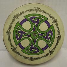 """L'Irlanda Irlandese Celtico Design 18"""" brosna CROCE TAMBURO Bodhran Beater DVD 4 oggetti"""
