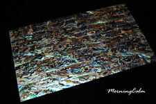 """3 Sheets of Blue Paua Coated Veneer (MOP Shell Craft Luthier """"Mother of Pearl"""")"""