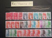 FRANCIA - BELLISSIME SERIE DI 31 FRANCOBOLLI - VERO AFFARE - OTTIMO PREZZO- F17