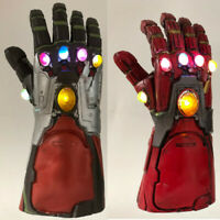 Iron man Infinity Gauntlet LED Light Gloves Avengers Endgame Tony Stark Costume