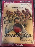Vintage Arkansas 2012 Calendar Football Game Day Program Art~1900s-1970s~New