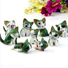 Fd2160 Cat Miniature Dollhouse Garden Craft Fairy Bonsai Plant Decor 1 Set 9pc