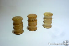 English Trio of Double Headed Wood Palm Gavels Handmade Oak Horbeam Spalt Beech