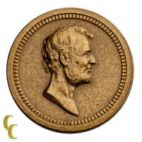 1868 Washington/Lincoln Bronze Medalette (UNC) Uncirculated Condition