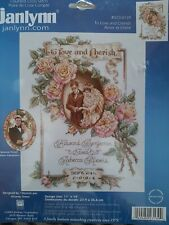 Janlynn TO LOVE AND CHERISH 023-0139 Wedding Counted Cross Stitch Kit NOS 2004